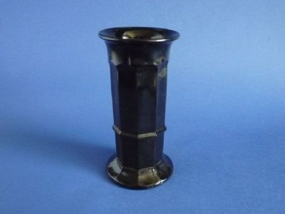 Davidson's Jet Glass Column Vase c1930 (Sold)